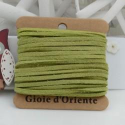 Filo in alcantara colore verde chiaro 5 mt 3 mm per le tue creazioni!!