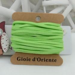 Filo in alcantara colore verde acceso 5 mt 3 mm per le tue creazioni!!