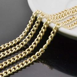 CATENA alluminio GROUMETTE oro 3.5 x 5 mm alluminio filo liscio 1mt per borse bigiotteria