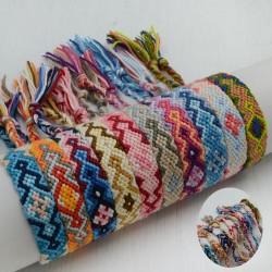 10 pz base bracciali cavigliera dell'amicizia azteco Bracciale macramè con chiusura regolabile