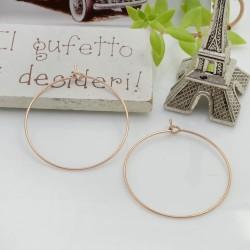 Base orecchini a cerchio sottile in acciaio oro rosa 30 mm 1 coppia per le tue creazioni!!