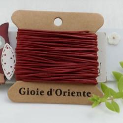 CORDINO CERATO tondo colore rosso 5 MT 100% qualità AAA per le tue creazioni!!