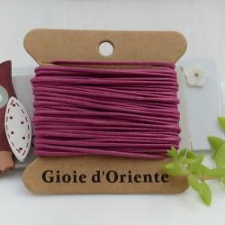 CORDINO CERATO tondo colore viola 5 MT 100% qualità AAA per le tue creazioni!!