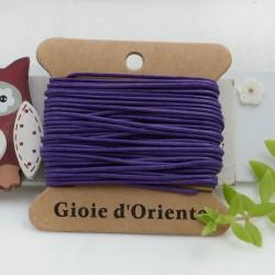 CORDINO CERATO tondo colore viola2 5 MT 100% qualità AAA per le tue creazioni!!