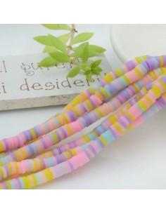 fili Rondelle Pasta Polimerica col mix pastello 1 x 4 mm 39/40 cm Polimero Perline Heishi per le tue creazione