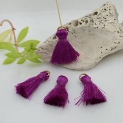 nappine ciondolo nappa Charms in seta col viola 22 mm per decorare 2 pz per fa da te