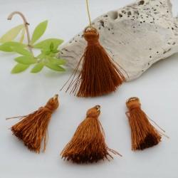 nappine ciondolo nappa Charms in seta col marrone chiaro 22 mm per decorare 2 pz per fa da te