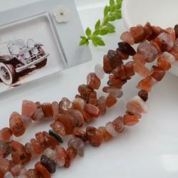 Perline in pietra chips 5 x 9 mm Agata Botswana Sassolini per bigiotteria circa 200pz filo 90cm