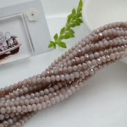 filo cristalli 2.5 x 3.5 mm colore lilla cammello Rondelle sfaccettato 145pz per le tue creazioni n 101