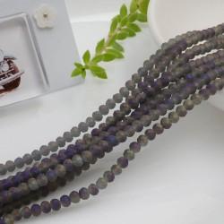 filo cristalli 2.5 x 3.5 mm colore grigio ametista opaco Rondelle sfaccettato 145pz per le tue creazioni n 107