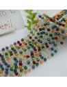 Catena rosario con cristalli 2.5 x 3.5 mm 50 CM in acciaio colore mix per le tue creazioni!!