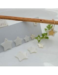 Ciondolo in madreperla a forma di stella diverse misure 1 pz per le tue creazioni!!