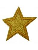 1 Pz. Patch Toppe Adesivi ricamate termoadesiva Stella 6,5 cm
