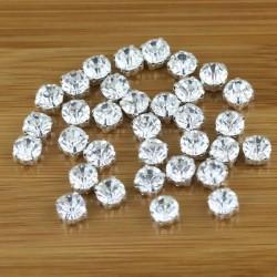Cucire Cristallo Vetro Diamante Finto Strass Argento 3. 4, 5, 6 mm