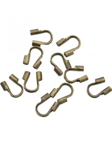 Salvafilo proteggere il cavetto d'acciaio tipologie di fili 20pz Bracciale collana