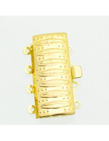 Chiusura 4 fili filigrana incastro per collana bracciale