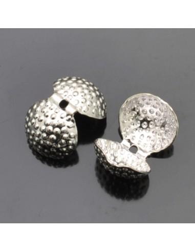 Capicorda Terminali a Conchiglia 11mm col rame argento Bracciale collana 6pz