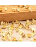Capicorda Terminali per Filo Alcantara 3x8 mm col oro argento 40pz