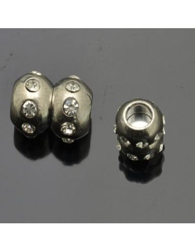 chiusure magnetiche calamita con strass collana bracciale 11x 16 mm fori 5.7 mm