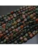 Pietre dure Agata muschiata sasso Burattato qualità di gioielli 5-7 mm filo 40cm