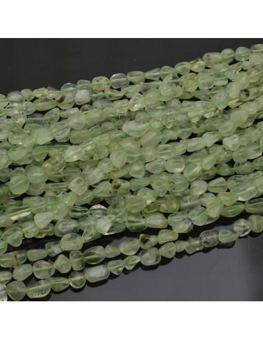 Pietre dure Prenite sasso Burattato qualità di gioielli 5-7 mm filo 40cm