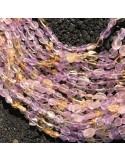Pietre dure Ametrino sasso Burattato qualità di gioielli 5-7 mm filo 40cm