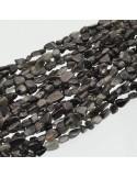 Pietre ossidiana sasso Burattato qualità di gioielli 5-7 mm filo 40cm