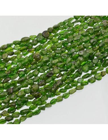 Pietre Topazio verde sasso Burattato qualità di gioielli 5-7 mm filo 40cm