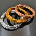 filo in alluminio 3mm colore oro rosa /argento /oro bijoux 3 mt