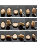 Pietra dura Agata Rodiata sfaccettate forma goccia tondo ovale cilindro 2 pz per le tue creazioni