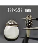 Madreperla sfuse per orecchini collana bracciale forma varia 2 pz per le tue creazioni