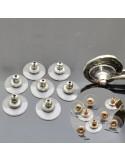 FERMO ORECCHINI IN SILICONE col argento col rame Campana trasparente 12mm