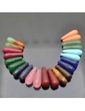Perle a goccia PIETRE DURE sfaccettata 10x30 mm 1pz per orecchini collana pendente per tue creazioni