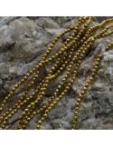 Pietre dure Ematite tondo sfaccettata 2 mm FILO perline PICCOLISSIMA per bigiotteria circa 190 pz 40cm