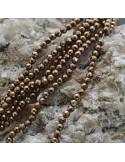 Pietre dure Ematite tondo sfaccettata 3 mm FILO perline PICCOLISSIMA per bigiotteria circa 130 pz 40cm
