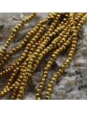 Pietre dure Ematite Rondelle sfaccettata 2x3 mm FILO perline PICCOLISSIMA per bigiotteria circa 200 pz 40cm
