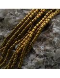 Ematite cilindro 2.8 mm FILO perline PICCOLISSIMA per bigiotteria circa 130pz 40cm