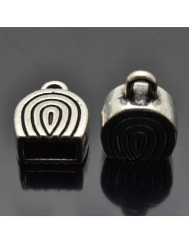 Coppette terminali per cuoio cordino nappine bigiotteria 2 Pz.Capicorda 14.5x20 mm