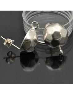 Base orecchini a perno 15x11 mm in argento 925%