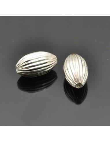 Distanziatori inframezzi ovali 2 pezzi 13x7 mm in argento 925%