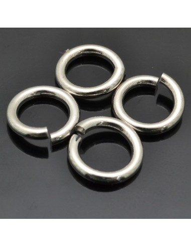 Anelle brisè da 9 mm da 10pz in argento 925%