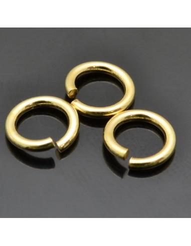 Anellini argento 925 aperte placato oro misura varia per le tue creazioni