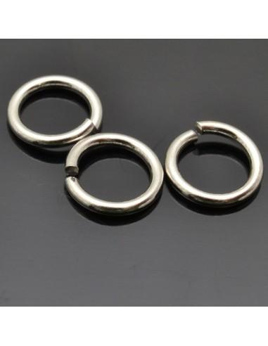 Anelle aperte da 8 mm da 10pz in argento 925%
