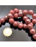 17 PZ perla in ceramica 17.5-19MM smaltata per bijoux collana braccia orecchini
