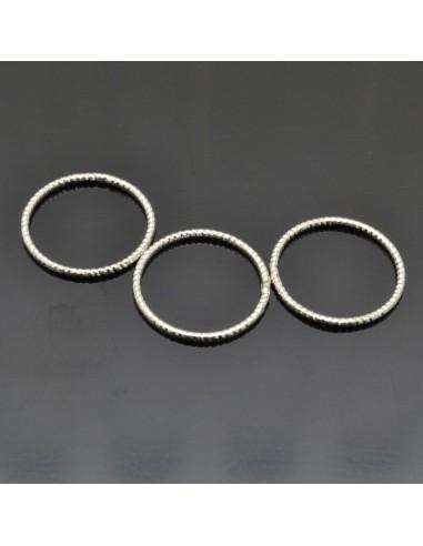 Anelle chiuse da 12 mm da 10pz in argento 925%