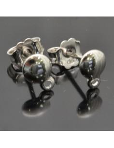 Base orecchini a perno 11x5 mm 1coppia in argento 925%