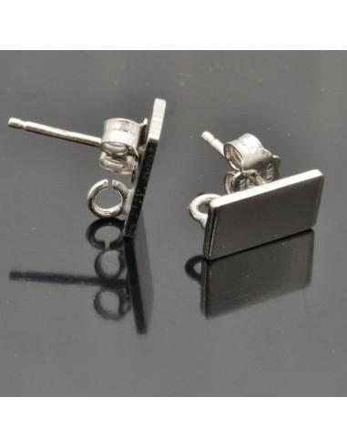 Base orecchini a perno 10x6 mm 1coppia in argento 925%