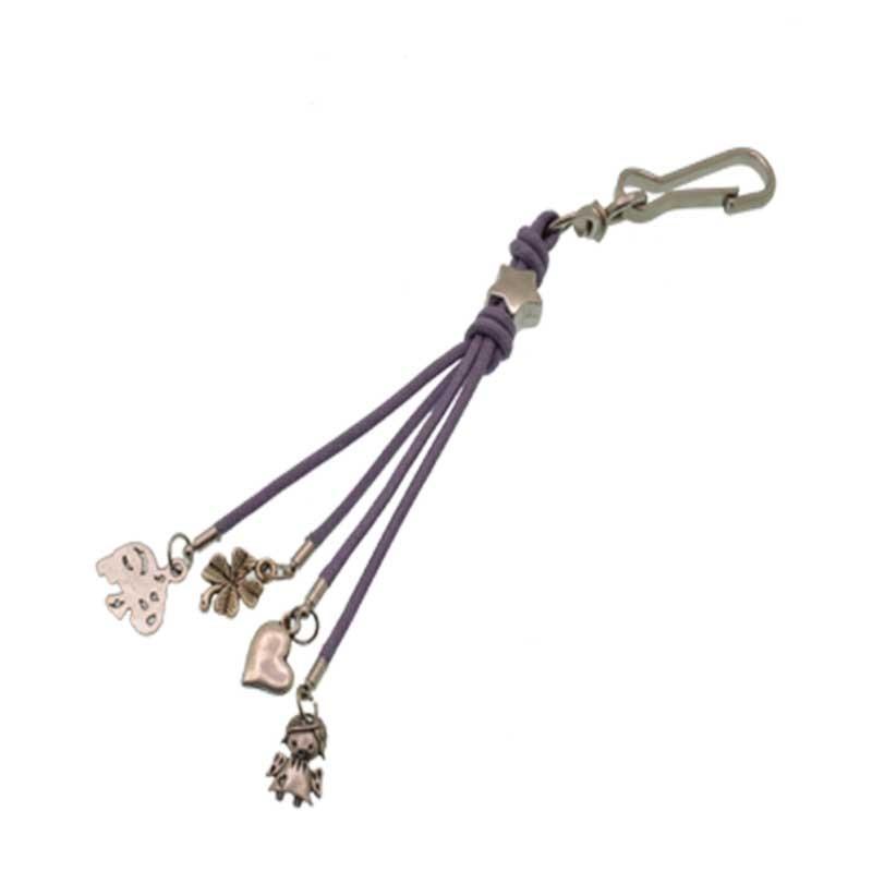 Portachiavi con filo cordocino ciondolo borsa fatto a mano