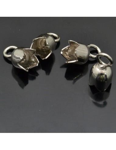 Capi cordoncino con gancio da 11x6 mm 10pz in argento 925%