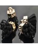 Nappine in Alcantara per orecchini collana ciondolo bigiotteria 11x25 mm col oro